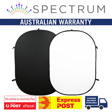 Large 1.5 x 2.1m Black White Double Sided Portable Collapsible Pop Up Backdrop