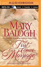 Huxtable: First Comes Marriage 1 by Mary Balogh (2015, MP3 CD, Unabridged)