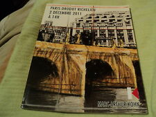 "RARE! CATALOGUE ""VENTE AUX ENCHERES MARC-ARTHUR KOHN, PARIS DROUOT Decembre 2011"
