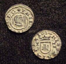 *GUTSE*30-FELIPE IV, 2 MARAVEDIS 1664, CUENCA CA,  XC 1349, RARA, MBC