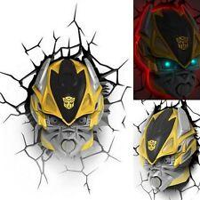 Top Transformers Bumblebee Autobot 3D FX Deco Wand LED Nachtleuchte Wandlampe