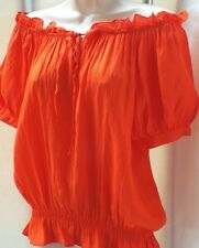 NEXT Pretty Gypsy on/off Shoulder Blouse Stunning  Sunset Orange Colour  Size 12