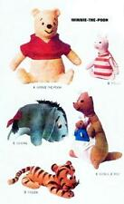 VTG WINNIE the POOH, TIGGER, EEYORE, KANGA, PIGLET STUFFED ANIMAL PATTERN 8087