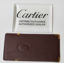 CARTIER CUSTODIA BORDEAUX CASE FODERO ASTUCCIO BAG PELLE MALET BOX