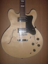 NEW 6 String Semi  Hollow Body Electric Guitar Natural Glen Burton Memphis
