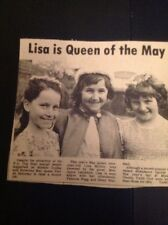 J1-6 Ephemera 1975 Picture 1st Minster Guides Lisa Milton May Queen Patricia Fag
