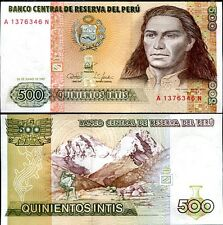 PERU 500 INTIS 1987 Banknote Currency UNC     #335