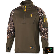 BROWNING DIRTY BIRD 1/4 ZIP TIMBER FLEECE PULLOVER COAT MAX-5 CAMO MEDIUM