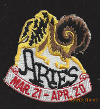ARIES MARCH 21 APRIL 20 HAT VEST PATCH PIN UP GIFT QUILT BIRTHDAY Greek Myth