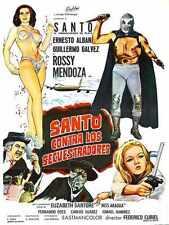 Santo Vs Kidnappers Poster 01 Metal Sign A4 12x8 Aluminium