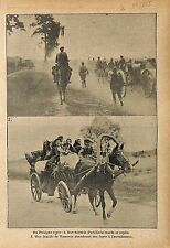 Battle of Galicia Poland Imperial Russia Army Warsaw Horse WWI 1915 ILLUSTRATION