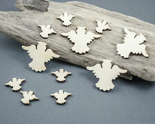 12 x ANGEL ANGELS Craft abbellimento Birch Plywood LASER CUT IN LEGNO MDF BIANCO
