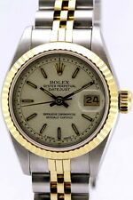 ROLEX AUTOMATIC OYSTER PERPETUAL DATE JUST 18K & STAINLESS STEEL WOMEN'S WATCH