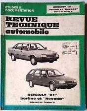 RTA Revue Technique Automobile 9/1988; Renault 21 berline et nevada Diesel et TD