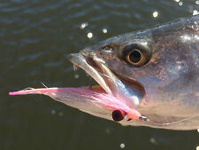 Saltwater Fly Fishing Flies (Bonefish, Trout, Redfish) Clouser Minnow Pink White