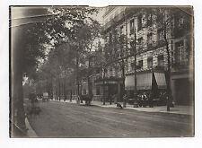 PHOTO ANCIENNE PARIS Rue d'Alesia Vers 1910 XIV arrondissement Calèches Resto