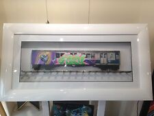 "ORIGINAL GRAFFITI ART RAP 2PAC HIP HOP SUBWAY TRAIN ""Seen"" PAINTING BY DULUX"