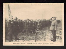 1942 Milan Italy Benito Mussolini Inspecting Cuneo Division postcard Cover