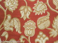 Zoffany Curtain / Upholstery Fabric DEERFIELD 3.35m RedGold Jacobean Weave 335cm