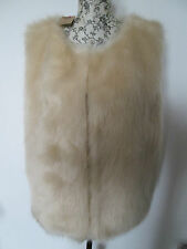 Hearts & Bows - Beige Fuax Fur Hook & Eye Gilet - 100% polyester Size 14