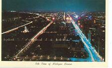 CHICAGO,ILL-NITE VIEW OF MICHIGAN AVENUE-CK-226-(S-521)