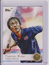 2012 TOPPS OLYMPIC TIMOTHY WANG TABLE TENNIS PING PONG GOLD CARD #8 ~ MULTIPLES