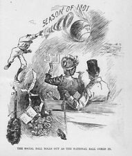 BASEBALL SEASON OF 1891 THE SOCIAL BALL ROLLS OUT AS THE NATIONAL BALL COMES IN