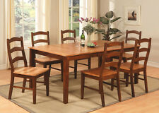 East West Furniture 7pc Henley Dining Set table w/ 6 chairs espresso & cinnamon