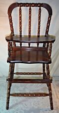 Vintage Wood Highchair & Tray Jenny Lind style Doll Baby Child Bear High Chair
