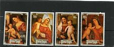 PENRHYN 1988 Sc#369-372 CHRISTMAS PAINTINGS SET OF 4 STAMPS MNH