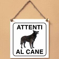 Cane da pastore olandese 1 Attenti al cane Targa piastrella cartello