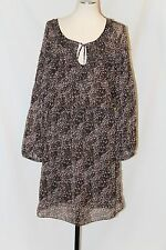 Sexy! MAX STUDIO SHEER PEASANT hippie PUFF LONG SLEEVE TUNIC DRESS SZ LARGE