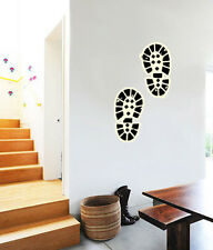 """Hiker's Footsteps Hiking Wall Decal Large Vinyl Sticker 22"""" Each"""