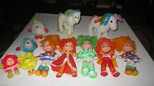 Vintage 1980s Rainbow Brite Plush Doll Lot with Horse and Sprites Lala Orange