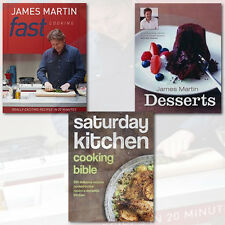 James Martin Fast Cook With Saturday Kitchen &Desserts Collection 3 Books Set