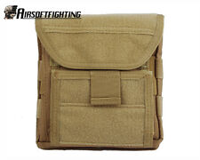 Airsoft 1000D Molle Tactical Admin Magazine Storage Pouch Bag Paintball TAN A