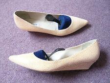 LK Bennett low wedge heel shoes Leather upper lining & soles VGC UK 7