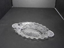 """Bryce Brothers Chain with Star #79 Oval Relish Clear EAPG 9 5/8"""" L ca 1882"""