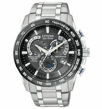 Citizen Eco-Drive Titanium Perpetual Calendar Chrono Men's Watch AT4010-50E