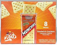 Munchies Cheetos Cheddar Cheese Sandwich Crackers Frito Lay To Go 11.04 oz