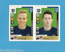 FIFA 365/2016-PANINI ITA-Figurina n.695/696- HEIJER+MURPHY -AUCKLAND CITY-NEW