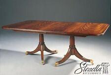 39575: MAITLAND SMITH Regency Mahogany Double Pedestal Dining Table ~ NEW