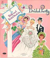 VINTGE UNCUT 1955 BRIDAL PARTY PAPER DOLLS ~HD LASER REPRODUCTION~LO PR~HI QUA