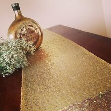 Lowest Prices 12''*72'' Gold Sequin Table Runner On Sale ! Buy It Now !!