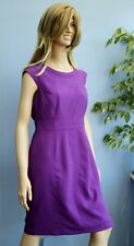 BHS Purple Cap Sleeve Shift Dress Size 14 Petite