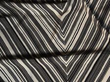 Seidensatin Seide glänzend 140 x 50 cm schwarz-wollweiß 100% Seide hochwertig