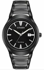 New Citizen Men's Eco Drive Paradigm Black Tone Stainless Steel Watch AW1558-58E