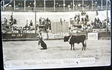 MEXICO ~ 1930 JUAREZ CHIH. ~ TORERO IN BULL FIGHT ~ No. 123 ~ Real Photo PC RPPC