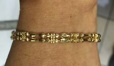 18k Solid Yellow Gold Two Line Bracelet  6.5 Inches 9.22GM