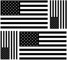 Set 4x sticker decal car macbook flag usa united states america black white camo